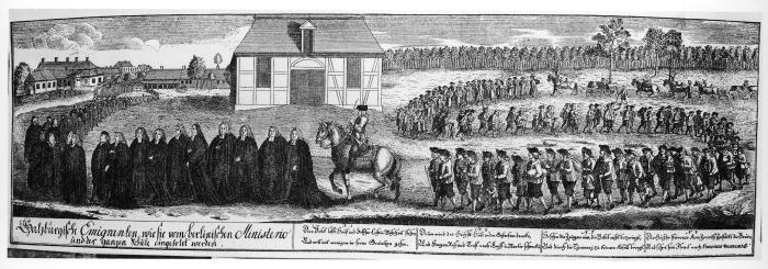 Einzug Salzburger Protestanten in Berlin