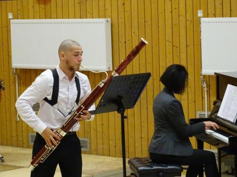 Lasse Krebber am Fagott mit Klavierbegleitung