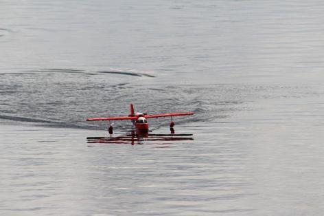 Ausstellung und Vorführung von Wasserflugzeug-Modellen durch MFC Salzwedel