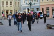 Ankunft einiger Teilnehmer der Anti-Aktion