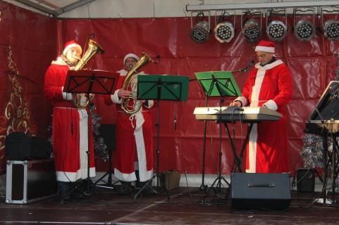 Die Lychener Stadtmusikanten am Samstagvormittag