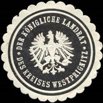 002 Siegelmarke. Der königliche Landrat des Kreises_Westprignitz (Copy)